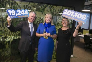 L-R: Terence O'Rourke, Chairman, Enterprise Ireland; Minister for Jobs, Enterprise and Innovation, Mary Mitchell O'Connor TD and Julie Sinnamon, CEO, Enterprise Ireland